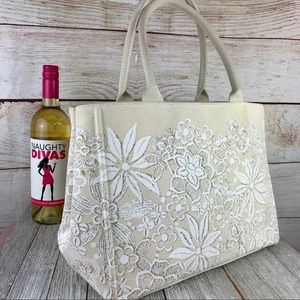 Oscar de la Renta NM Target Floral Canvas Tote Bag